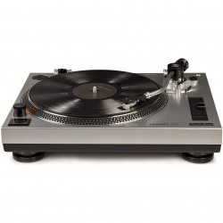 Crosley Furniture - C100A-SI - Crosley C100A-SI S-Shaped Tone Arm and Adjustable Weight Turntable - Silver