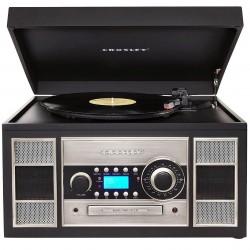 Crosley Furniture - CR2413A-BK - Crosley CR2413A-BK Turntable/Radio/Cassette Memory CD Recorder - Black