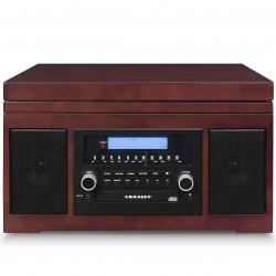 Crosley Furniture - CR2415A-MA - Crosley CR2415A-MA Full Range Turntable/Radio/CD/Cassette Player - Mahogany