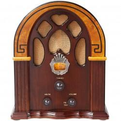 Crosley Furniture - CR31-WA - Crosley CR31-WA 1930's Style Analog Tuner Am/Fm Companion Retro Radio - Walnut