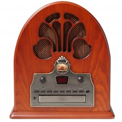 Crosley Furniture - CR32CD - Crosley CR32CD 1930's Style Analog Tuner Am/Fm Cathedral Style Radio - Paprika