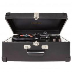 Crosley Furniture - CR49-BK - Crosley CR49-BK 3-Speed Adjustable Tone Control Traveler Turntable - Black