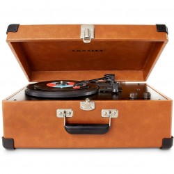 Crosley Furniture - CR49-TA - Crosley CR49-TA 3-Speed Adjustable Tone Control Traveler Turntable - Tan