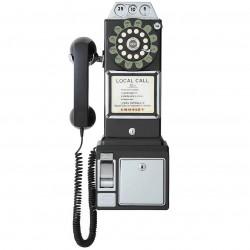 Crosley Furniture - CR56-BK - Crosley CR56-BK 1950's Style Push Button Technology Payphone - Black