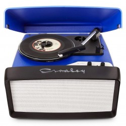 Crosley Furniture - CR6010A-BL - Crosley CR6010A-BL 3-Speed Collegiate Portable USB-Enabled Turntable - Blue