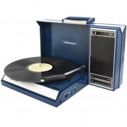 Crosley Furniture - CR6016A-BL - Crosley CR6016A-BL Portable Spinnerette Portable USB-Enabled Turntable - Blue