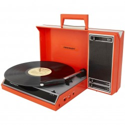 Crosley Furniture - CR6016A-RE - Crosley CR6016A-RE Portable Spinnerette Portable USB-Enabled Turntable - Red