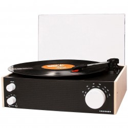 Crosley Furniture - CR6023A-NA - Crosley CR6023A-NA 3-Speed Am/Fm Bluetooth Input Switch Turntable - Natural
