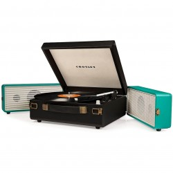 Crosley Furniture - CR6230A-TU - Crosley CR6230A-TU 3-Speed USB-Enabled Snap Turntable - Black and Turquoise