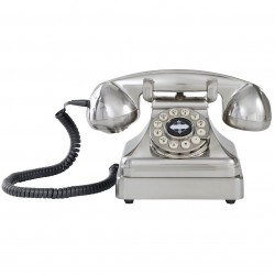 Crosley Furniture - CR62-BC - Crosley CR62-BC Kettle Classic Push Button Technology Desk Phone-Brushed Chrome