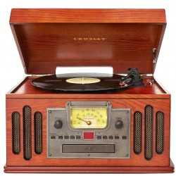 Crosley Furniture - CR704C-PA - Crosley CR704C-PA 3-Speed Crosley Musician 5-in-1 Entertainment Center - Paprika