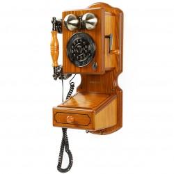 Crosley Furniture - CR92 - Crosley CR92 Country Wall Phone II - Oak