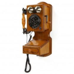 Crosley Furniture - CR92-OA - Crosley CR92-OA Rotary Dial Hand-Rubbed Country Kitchen Wall Phone II - Oak