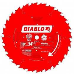 Diablo Tools - D1024X - Diablo D1024X 10-Inch 24-TPI Perma-Shield Carbide Tri-Metal Ripping Saw Blade