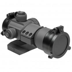 NcSTAR - DRGB135U - NcStar DRGB135U 1x35mm Cantilever Mount Tactical Red/Green/Blue Dot Sight, Gray