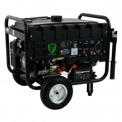DuroPower - DS4400EHF - DuroStar DS4400EHF 4400-Watt Fortress Hybrid Propane/Gas Generator w/ Wheel Kit and Electric Start