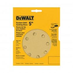 Dewalt - DW4306 - DeWALT DW4306 5'' 8 Hole 220 Grit Hook & Loop Random Orbit Sandpaper (5 Pk)