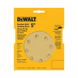 Dewalt - DW4307 - DeWALT DW4307 5'' 8 Hole Assortment Hook & Loop Random Orbit Sandpaper (5 Pk)