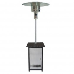 US Stove (USSC) - HCPHSSWKR - US Stove HCPHSSWKR Stainless Steel Gas Patio Heater with Wicker Stand and Door
