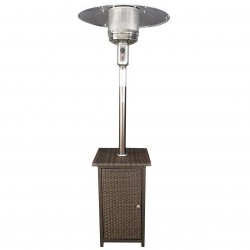 US Stove (USSC) - HCPHWKR - US Stove HCPHWKR 41000 BTU 130 Sq. Ft. Gas Patio Heater with Wicker Stand