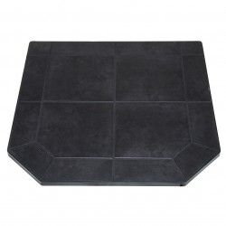 US Stove (USSC) - HS40DLBJT1 - US Stove HS40DLBJT1 40-inch Heavy Duty Steel Tile Type 1 Black Jack Hearth Pad