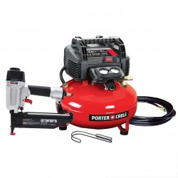 Porter Cable - PCFP72671 - Porter-Cable PCFP72671 16ga 150 PSI Finish Nailer Compressor Combo Kit with Hose, Belt Hook and Nails