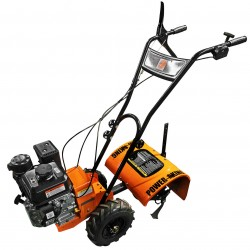 QVTools - PK1201 - Power King PK1201 196cc 6.5 HP 4-Stage Filter System Gas Rear Tine Tiller