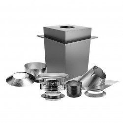 US Stove (USSC) - SD9085 - US Stove SD9085 6-inch 24-Gauge Stainless Steel DURAPLUS Basic Ceiling Kit