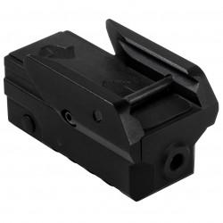 NcSTAR - VAPRLSMCG - NcStar VAPRLSMCG 2-Inch Rail Mounting Compact Pistol Green Laser w/ Strobe