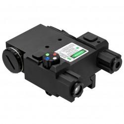 NcSTAR - VLG4NVQRB - NcStar VLG4NVQRB Quick Release Multi-Color LED NAV Green Laser Combo, Black