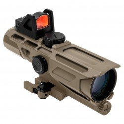 NcSTAR - VSTM3940GDV3T - NcStar VSTM3940GDV3T 3-9x40mm Mil-Dot GEN III Ultimate Sighting System, Tan