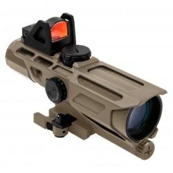 NcSTAR - VSTP3940GDV3T - NcStar VSTP3940GDV3T 3-9x40mm P4 Sniper GEN III Ultimate Sighting System, Tan