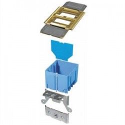 Thomas & Betts - B234BFBB - Carlon B234BFBB Adjustable Floor Box, 2-Gang, Type: GFCI Receptacles, Depth: 3