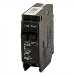 Eaton Electrical - BD3015 - Eaton BD3015 Breaker, BR Type, Duplex, 30/15A, 10kAIC, 120VAC, 1 Spacing