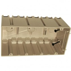 Allied Moulded - SB-4 - Allied Moulded SB-4 Switch/Outlet Box, 4-Gang, Adjustable, Depth: 3-1/4, Non-Metallic