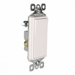 Pass & Seymour - TM873W - Pass & Seymour TM873W 3-Way Decora Switch, 15A, 120/277VAC, White