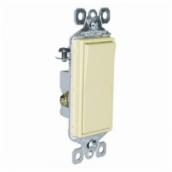 Pass & Seymour - TM873-I - Pass & Seymour TM873-I 3-Way Decora Switch, 15A, 120/277VAC, Ivory