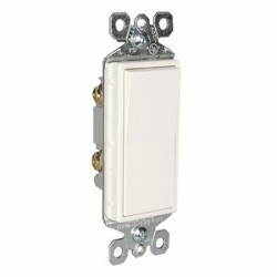 Pass & Seymour - TM870W - Pass & Seymour TM870W Decora Switch, 1-Pole, 15A, 120/277VAC, White