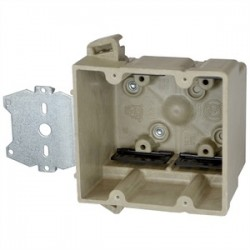 Allied Moulded - 2300-Z2 - Allied Moulded 2300-Z2 Switch/Outlet Box with Bracket, Depth: 3, 1-Gang, Non-Metallic