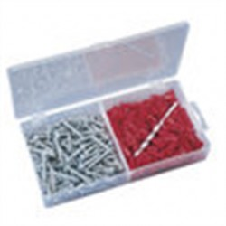 IDEAL Electrical / IDEAL Industries - 90-053 - Ideal 90-053 Plastic Anchor Kit, Flange-Type, #10-12 Anchors/#12 Screws/Bit