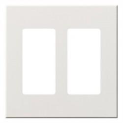 Lutron - VWP2RWH - Lutron 2 Socket Faceplate - 2 x Socket(s) - 2-gang - White