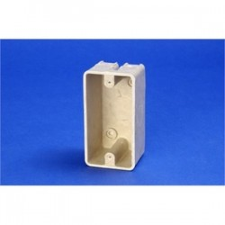 Allied Moulded - 9318 - Allied Moulded 9318 Electrical Box, 1-Gang, Depth: 2, Surface Mount, Non-Metallic