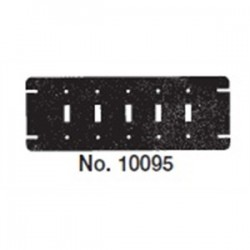 Mulberry Metal - 10095 - Mulberry Metal 10095 Gang Box Cover, 5 Gang, Flat, Switch