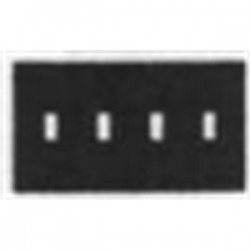 Mulberry Metal - 10094 - Mulberry Metal 10094 Gang Box Cover, 4 Gang, Flat, Switch