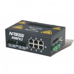 Red Lion Controls - 508FX2-A-ST - N-TRON 508FX2-A-ST Ethernet Switch, 8 Port, Advanced Management Features, N-View