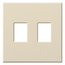 Lutron - VWP2LA - Lutron 2 Socket Faceplate - 2 x Socket(s) - 2-gang - White