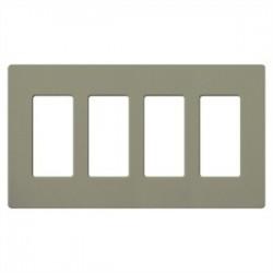 Lutron - SC4GB - Lutron Satin Colors 4 Socket Faceplate - 4 x Socket(s) - 4-gang - Greenbriar