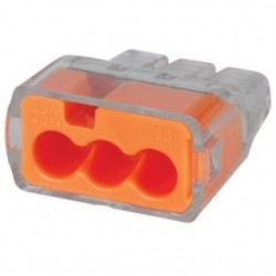IDEAL Electrical / IDEAL Industries - 30-1033 - Ideal 30-1033 Wire Connector, Three Port, Push In, 18 to 12 AWG