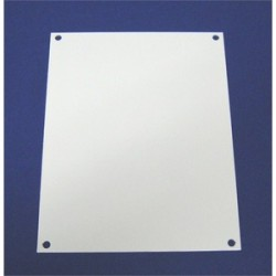 Allied Moulded - P2424 - Allied Moulded P2424 Back Panel For Enclosure, 24 X 24, Carbon Steel, White