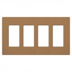 Lutron - SC4TC - Lutron Satin Colors 4 Socket Faceplate - 4 x Socket(s) - 4-gang - Terracotta
